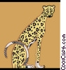 Vector Clipart picture  of a leopard