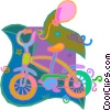 Vector Clip Art image  of a child's bike