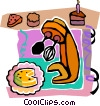 Vector Clip Art graphic  of a baking cake