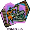 Vector Clip Art graphic  of a industrial work
