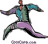 Vector Clip Art picture  of a man jogging