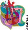 Vector Clip Art image  of a violin