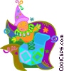 jack-in-the-box, toys Vector Clip Art picture