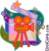 motion picture camera, Vector Clipart picture