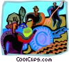 Vector Clip Art picture  of a farmers