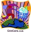 home shopping motif Vector Clipart image