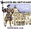 Vector Clipart image  of a Vatican City