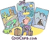 Vector Clip Art image  of a vacation