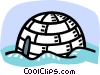 Vector Clip Art image  of a igloo