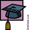 Vector Clip Art graphic  of a graduation hat