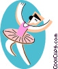 Vector Clipart graphic  of a ballerina