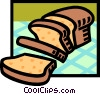 loaf of bread Vector Clipart graphic