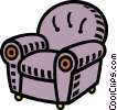 Vector Clip Art graphic  of a comfortable chair
