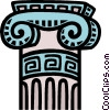 Vector Clipart picture  of a Classical column