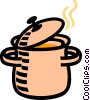 pot of stew Vector Clipart illustration