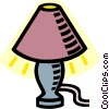 Vector Clipart graphic  of a desk lamp