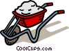 Vector Clip Art image  of a wheelbarrow