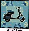 motor scooter Vector Clip Art picture