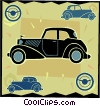 Vector Clip Art picture  of an antique automobile