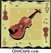 Vector Clipart graphic  of a violin