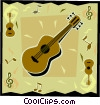 guitar Vector Clipart graphic