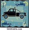Vector Clip Art picture  of a tow truck