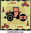 Vector Clipart picture  of a steamroller