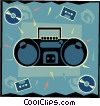Vector Clipart graphic  of a mini stereo equipment