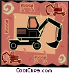 backhoe Vector Clipart graphic