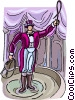 Vector Clipart image  of a ring master
