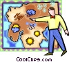 Vector Clipart graphic  of a weather man