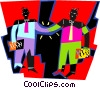 Vector Clip Art image  of a people