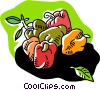 Vector Clip Art image  of a bell peppers