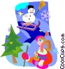 Vector Clipart illustration  of a winter
