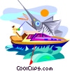 fishing Vector Clip Art graphic