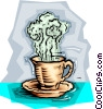 Cup of hot coffee Vector Clipart picture