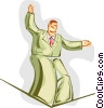 tightrope Vector Clip Art picture