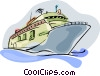 cruise ship Vector Clipart graphic