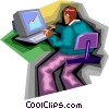 computer Vector Clipart graphic