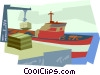 ship, shipping Vector Clip Art image