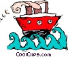 Vector Clipart illustration  of a boat