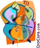 Vector Clipart graphic  of a Cellist