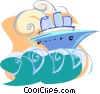 cruise ship Vector Clip Art image