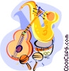 Vector Clipart image  of a saxophone