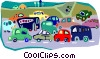 Vector Clipart image  of a traffic