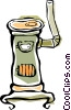 Vector Clipart illustration  of a wood stove