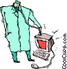 Vector Clipart illustration  of a computer technician
