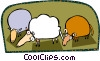 Vector Clip Art graphic  of an animals
