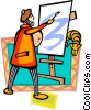 artist Vector Clipart illustration