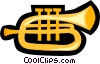 Vector Clipart illustration  of a trumpet